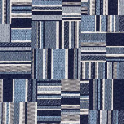 Plavi Geometrijski Tepih za Dom