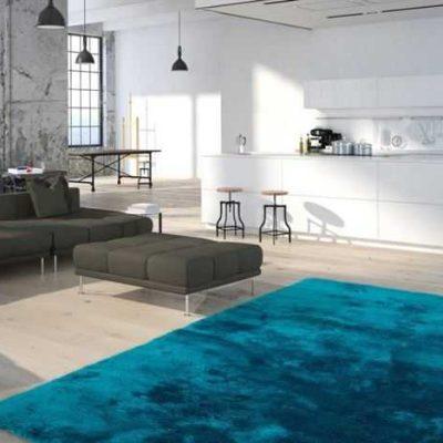 Morsko plavi Jednobojan Tepih za Dom
