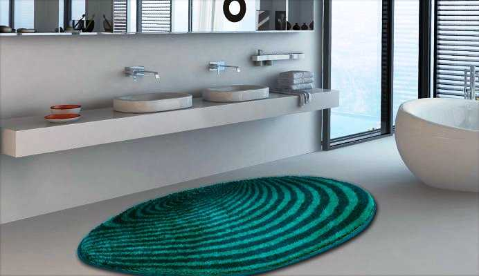 Okrugli tepih za kupaonice