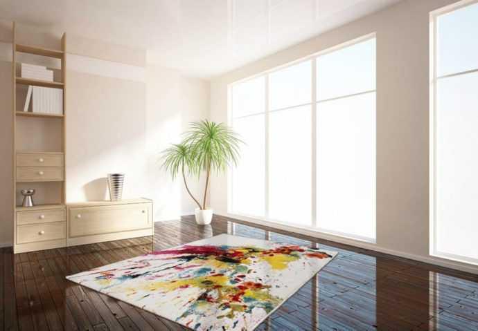 Abstraktni Višebojni Dizajn Tepih za Dom i Apartmane