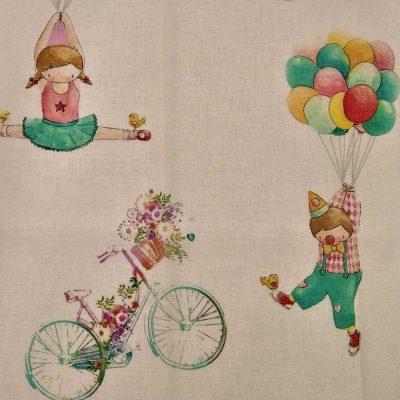 tepihland dječja zavjesa klaun balon