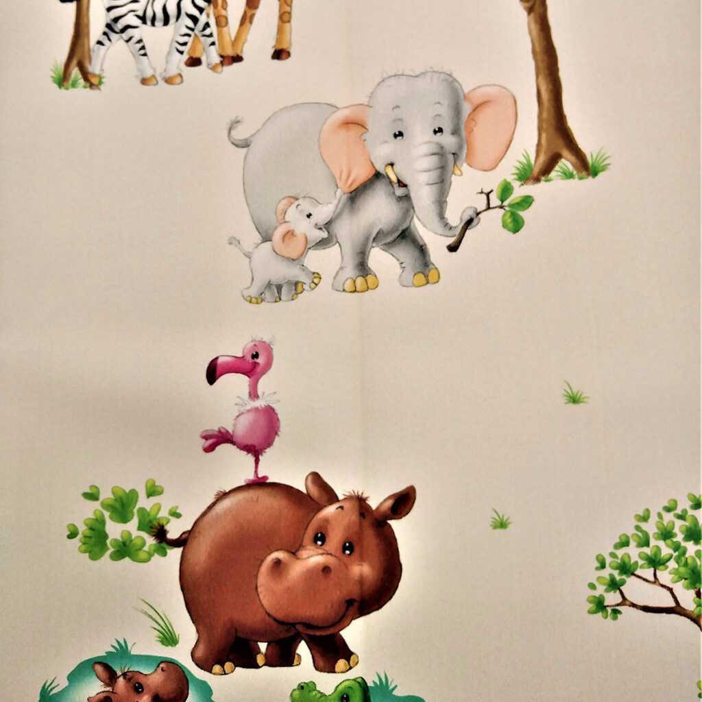 tepihland dječja soba zavjesa sa životinjama